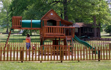children's playground at roaring run resort