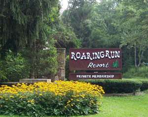 Roaring Run Resort Entrance